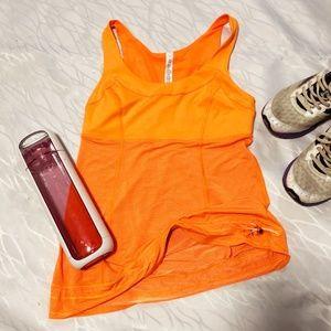 lululemon athletica bright orange tank